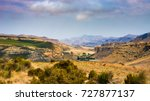 valleys  canyons and rocky... | Shutterstock . vector #727877137