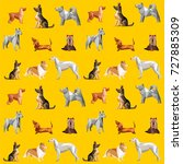 yellow seamless pattern with... | Shutterstock .eps vector #727885309