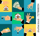 buy house hands vector... | Shutterstock .eps vector #727888054