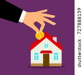 piggy bank house concept. house ... | Shutterstock .eps vector #727888159