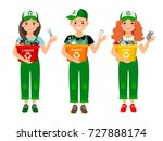 kids learning recycle trash... | Shutterstock .eps vector #727888174