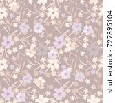 seamless floral pattern. cute... | Shutterstock .eps vector #727895104