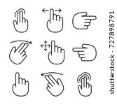 hand gestures icon set | Shutterstock .eps vector #727898791