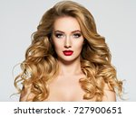 portrait of the blonde woman... | Shutterstock . vector #727900651
