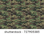 camouflage seamless pattern... | Shutterstock .eps vector #727905385