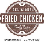 fried chicken vintage... | Shutterstock .eps vector #727905439