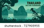 vector panorama of thailand... | Shutterstock .eps vector #727905955