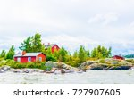 view of a small inhabited... | Shutterstock . vector #727907605