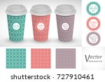 coffee cups set. vector take... | Shutterstock .eps vector #727910461