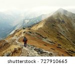 hiking in the mountains  autumn ... | Shutterstock . vector #727910665