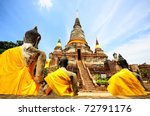 temple of ayuthaya  thailand | Shutterstock . vector #72791176