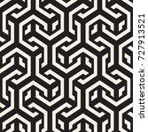 vector seamless interlacing... | Shutterstock .eps vector #727913521