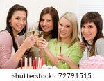 birthday party   happy woman... | Shutterstock . vector #72791515