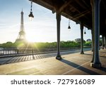 eiffel tower from bir hakeim... | Shutterstock . vector #727916089