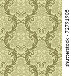 Seamless damask wallpaper - stock photo
