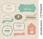 set of vintage labels old... | Shutterstock .eps vector #727920649