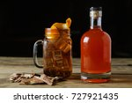 brown whiskey cocktail on... | Shutterstock . vector #727921435