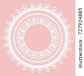 lace frame on a pink background.... | Shutterstock . vector #727924885