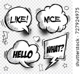 set of comic speech bubbles  ...   Shutterstock .eps vector #727924975