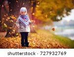adorable happy baby girl... | Shutterstock . vector #727932769