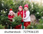family selecting christmas tree.... | Shutterstock . vector #727936135
