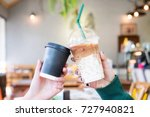coffee party business hand's... | Shutterstock . vector #727940821