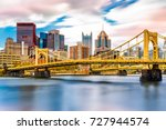 Rachel Carson Bridge (aka Ninth Street Bridge) spans Allegheny river in Pittsburgh, Pennsylvania