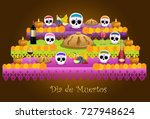Stock vector traditional offering represented the day of the dead in mexican customs 727948624