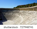 old theater  aspendos  turkey.... | Shutterstock . vector #727948741