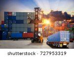 logistics and transportation of ... | Shutterstock . vector #727953319