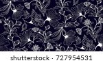 seamless floral pattern in... | Shutterstock .eps vector #727954531