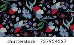 seamless floral pattern in... | Shutterstock .eps vector #727954537