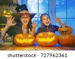 mother and her daughter having... | Shutterstock . vector #727962361