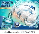 mouth rinse ads  gargle your...   Shutterstock .eps vector #727963729