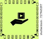 video icon  hand vector... | Shutterstock .eps vector #727965397