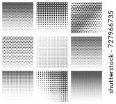 halftone dots vector textures....   Shutterstock .eps vector #727966735