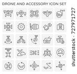 drone icon or uav icon.... | Shutterstock .eps vector #727971727