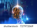 virtual human 3dillustration on ... | Shutterstock . vector #727972069