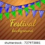 celebrate banner. festival... | Shutterstock .eps vector #727973881