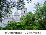partial view of church basilica ... | Shutterstock . vector #727974967