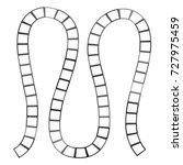 abstract futuristic maze ... | Shutterstock .eps vector #727975459