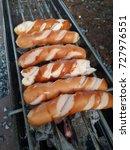 sausage toast | Shutterstock . vector #727976551