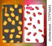 original pomegranate and orange ... | Shutterstock .eps vector #727976641