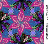 seamless floral pattern in.... | Shutterstock . vector #727986535