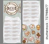 menu food restaurant template... | Shutterstock .eps vector #727988677