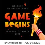 game begins. welcome to... | Shutterstock .eps vector #727993327