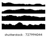 set of mountain silhouettes... | Shutterstock .eps vector #727994044