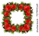 christmas square frame with... | Shutterstock . vector #727995169