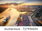 logistics and transportation of ... | Shutterstock . vector #727996054