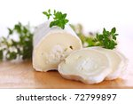 Goat cheese with fresh thyme